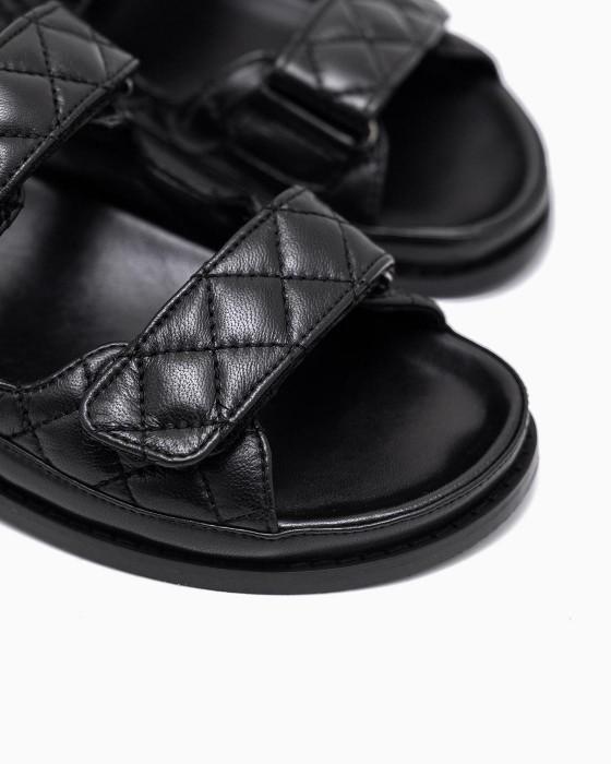 Стеганные сандалии ROU