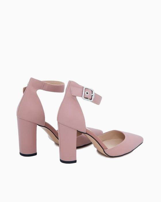 Бледно-розовые открытые туфли ROU