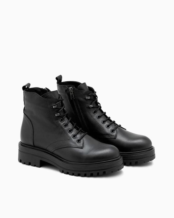 Брутальные зимние ботинки ROU с меховой подкладкой
