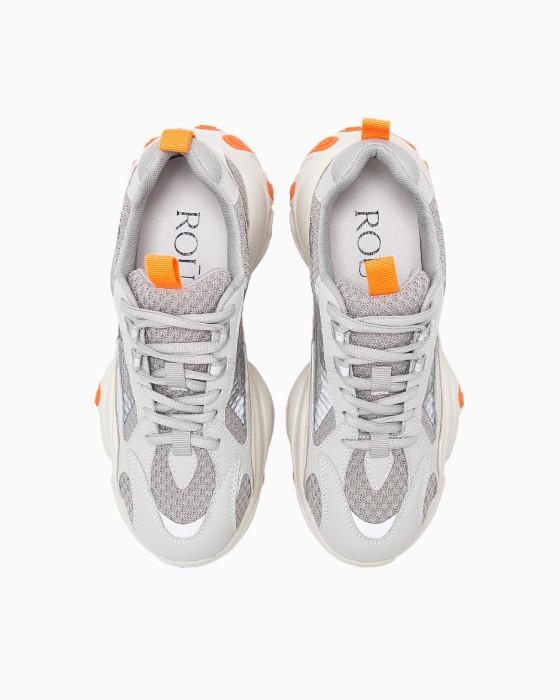 Серые кроссовки ROU с массивной подошвой