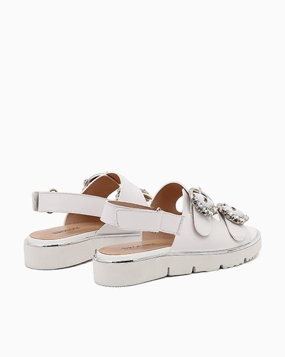 Белые сандалии на платформе Brocoli