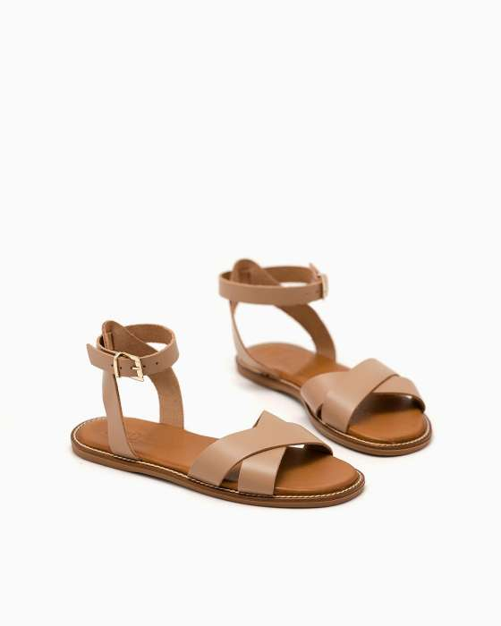 Минималистичные сандалии ROU цвета латте