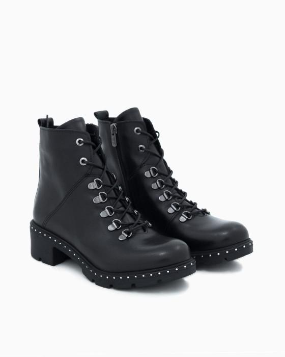 Ботинки ROU с открытой шнуровкой и декором