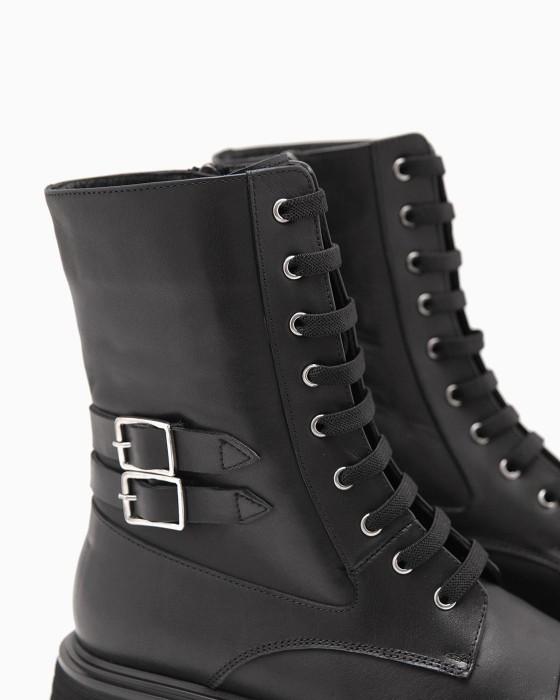 Демисезонные ботинки ROU с двумя пряжками