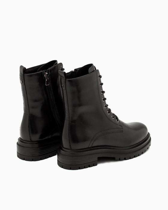 Брутальные кожаные ботинки ROU на массивной подошве