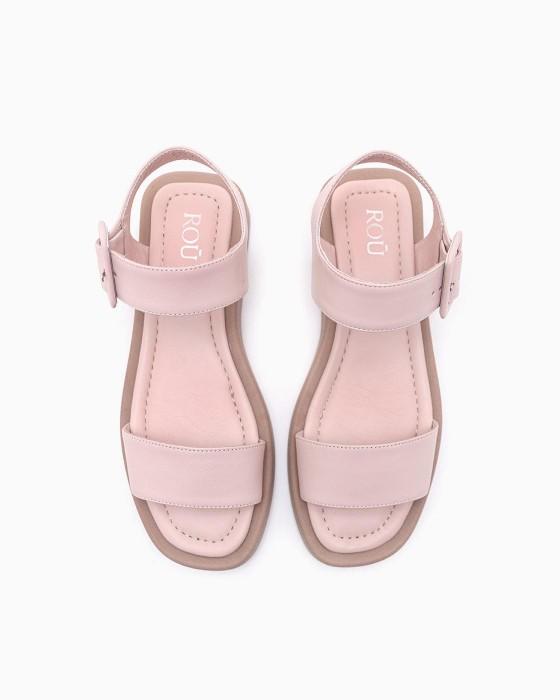 Розовые сандалии ROU с матовой подошвой