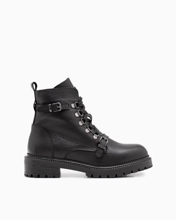 Зимние ботинки ROU двумя пряжками и ремешками на шнуровке