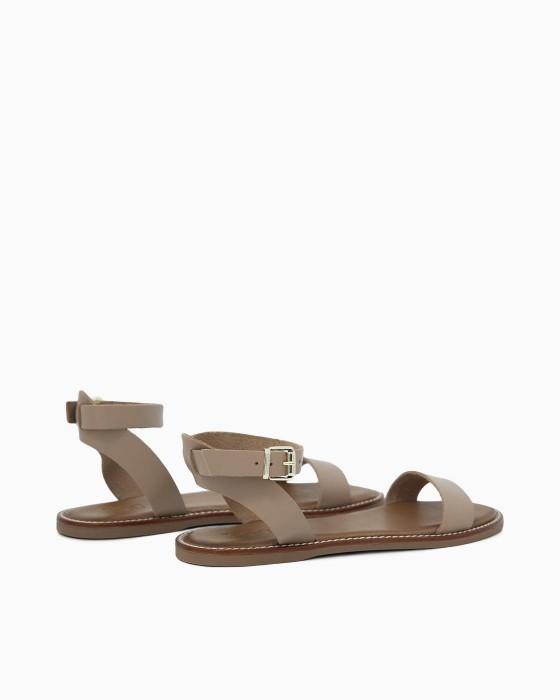 Минималистичные сандалии ROU светло-серого цвета