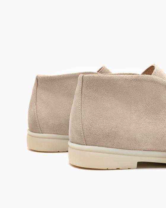 Замшевые ботинки ROU с песочным оттенком