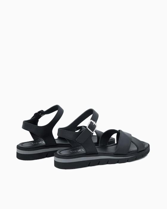Черные сандалии ROU на EVA подошве