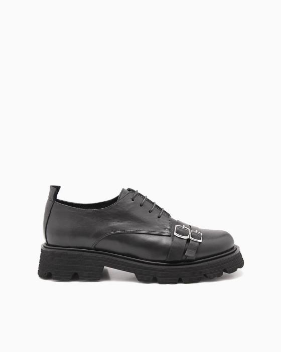 Объемные туфли ROU с двумя пряжками