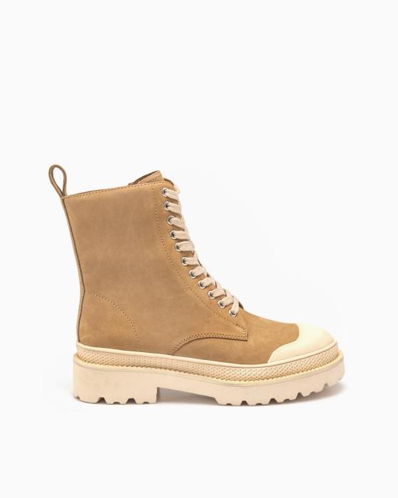 Высокие бежевые ботинки ROU