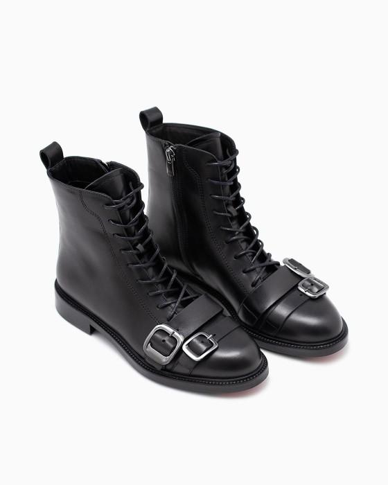 Демисезонные ботинки ROU с ремешками и пряжками