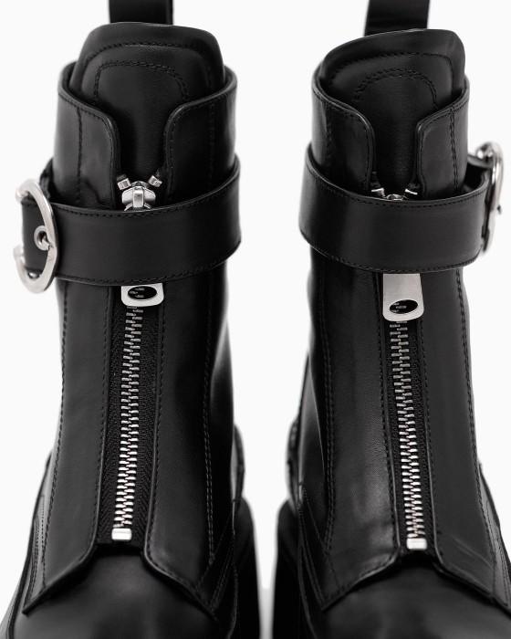 Демисезонные ботинки ROU на платформе с замком и пряжкой