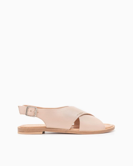 Кожаные сандалии ROU нежно-розового цвета