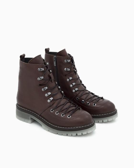 Зимние коричневые ботинки ROU