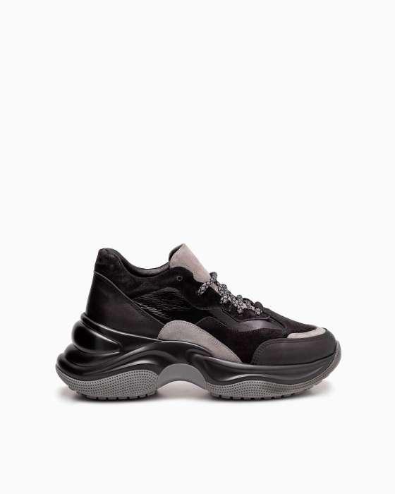 Комбинированные кроссовки ROU черные