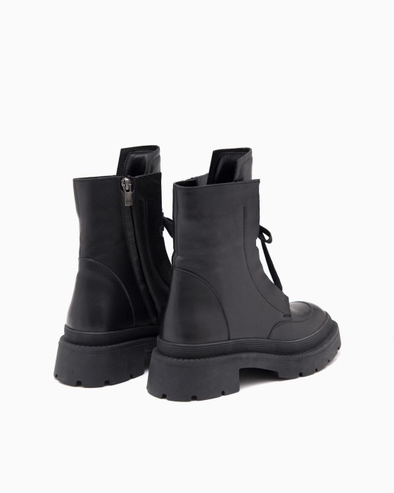 Высокие ботинки ROU в стиле милитари
