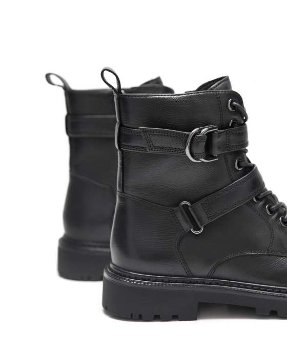 Высокие ботинки ROU с двумя ремешками