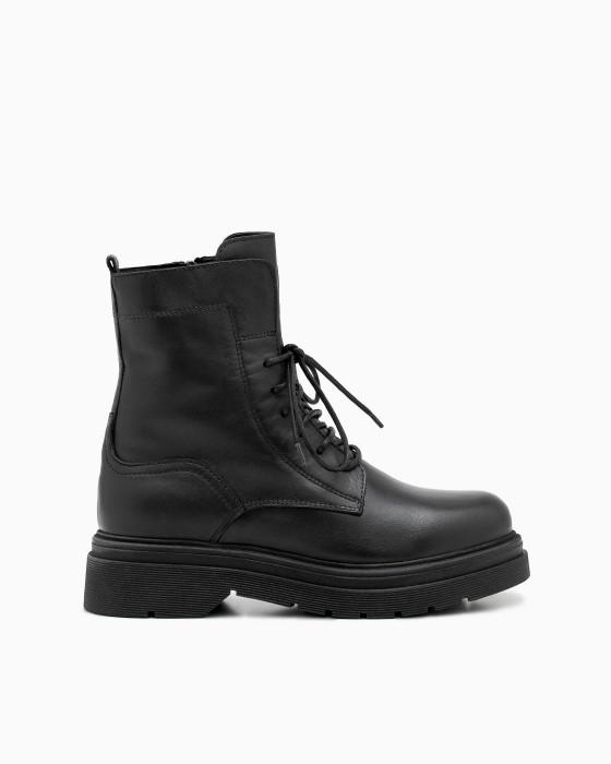 Ботинки ROU с массивной подошвой на шнуровке