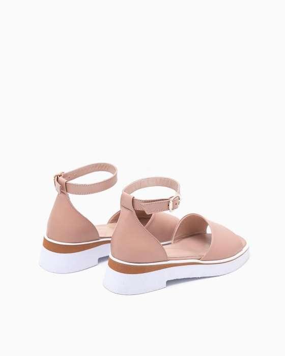 Розовые сандалии ROU на облегченной  подошве