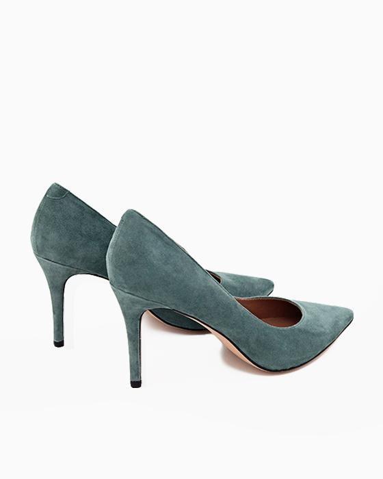 Темно-зеленые замшевые туфли ROU
