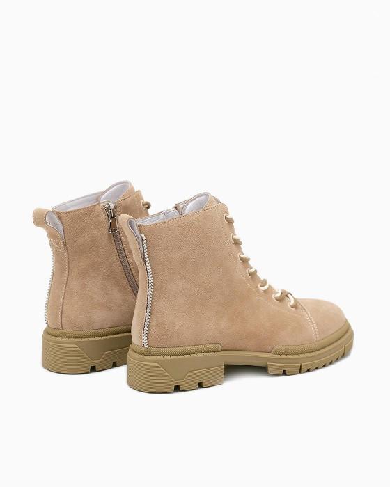 Замшевые ботинки ROU песочного цвета