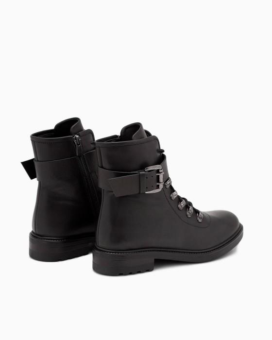Демисезонные ботинки ROU с ремнем и пряжкой