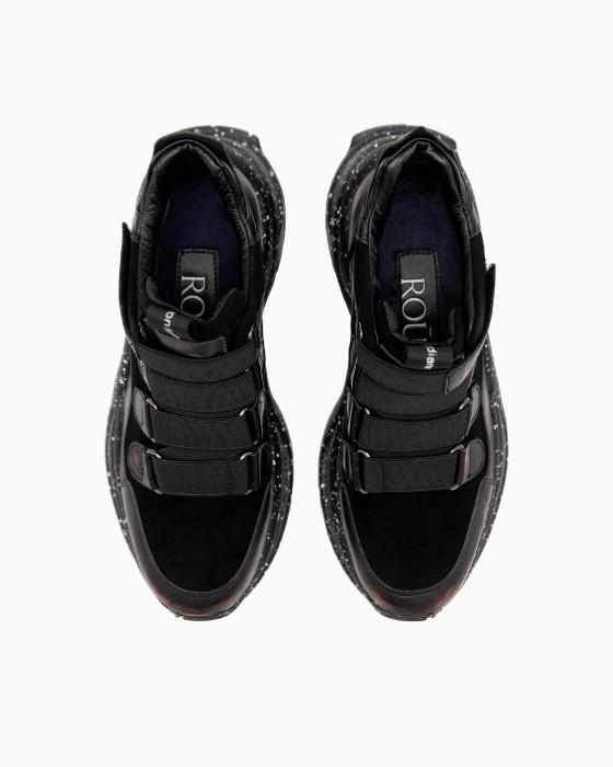 Высокие кроссовки ROU с липучками