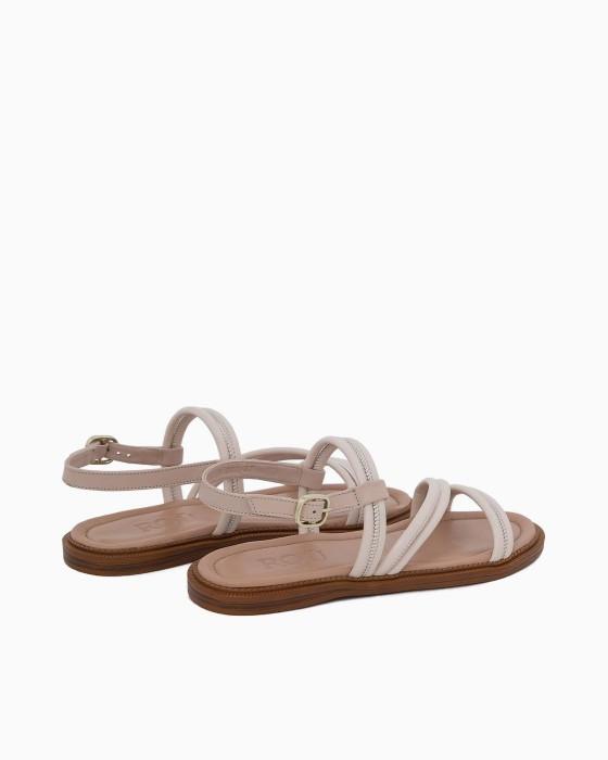 Кожаные бежевые сандалии ROU