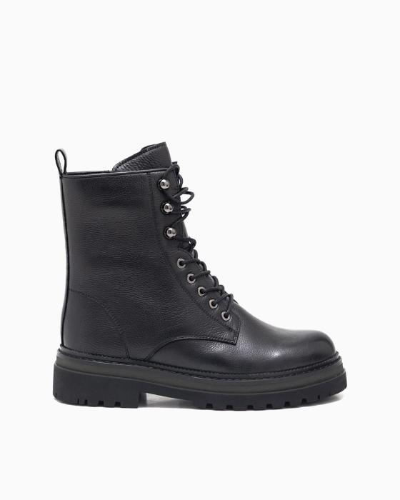 Зимние ботинки ROU с рантом цвета хаки