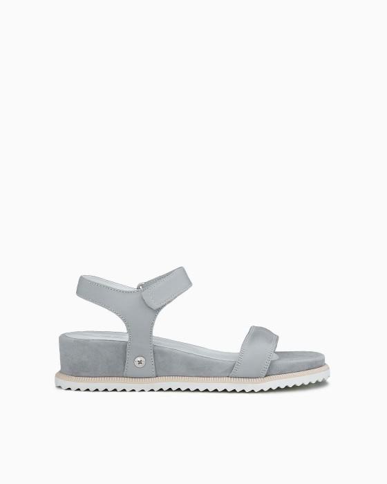 Замшевые серые сандалии Alpino