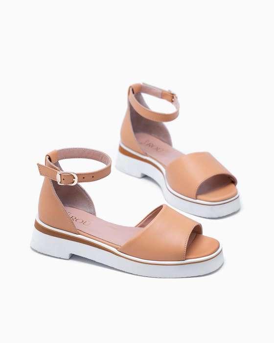 Бледно-оранжевые сандалии ROU на облегченной подошве