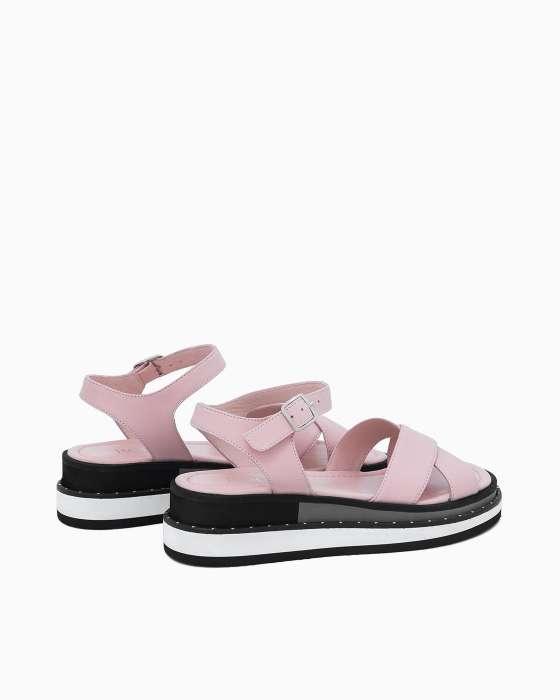 Розовые сандалии ROU на EVA платформе