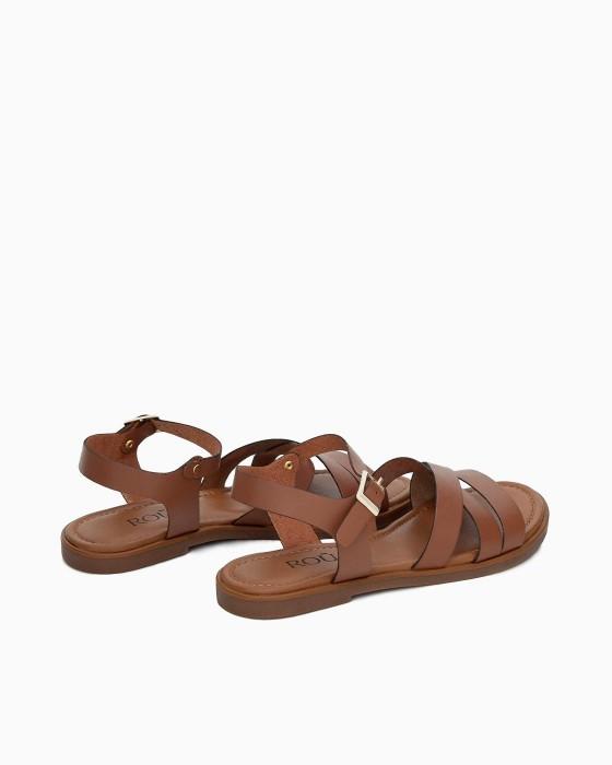 Коричневые сандалии ROU в античном стиле