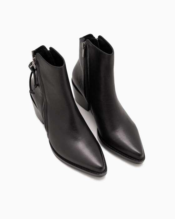 Черные кожаные казаки ROU