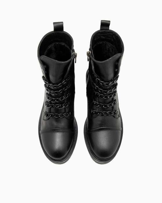 Демисезонные ботинки ROU с черными цепочками