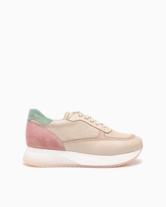 Разноцветные кроссовки ROU с силиконовой вставкой на подошве