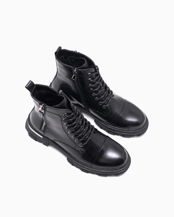 Демисезонные ботинки ROU c замком и декором на пятке