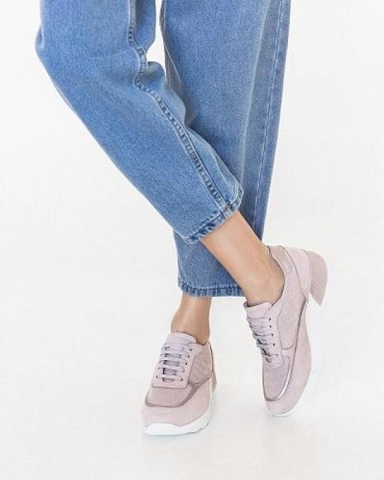 Кроссовки ROU нежно-розового цвета