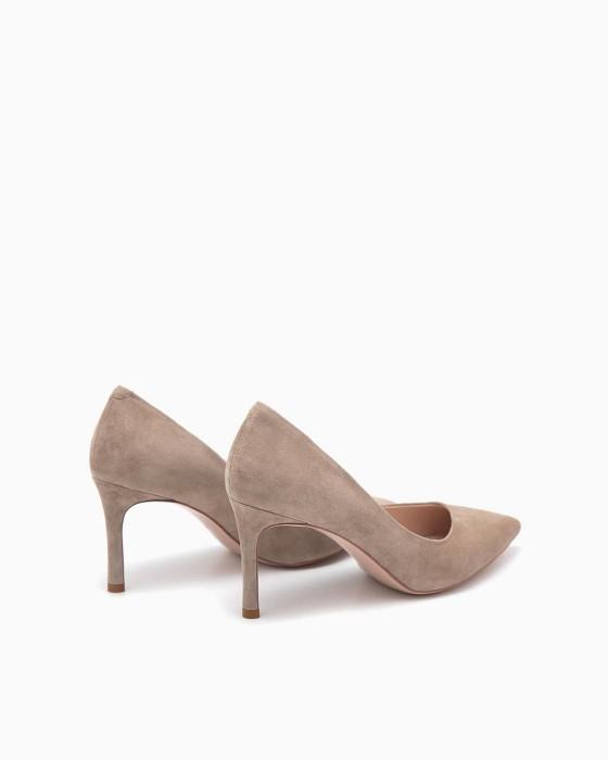 Замшевые туфли-лодочки ROU в цвете латте