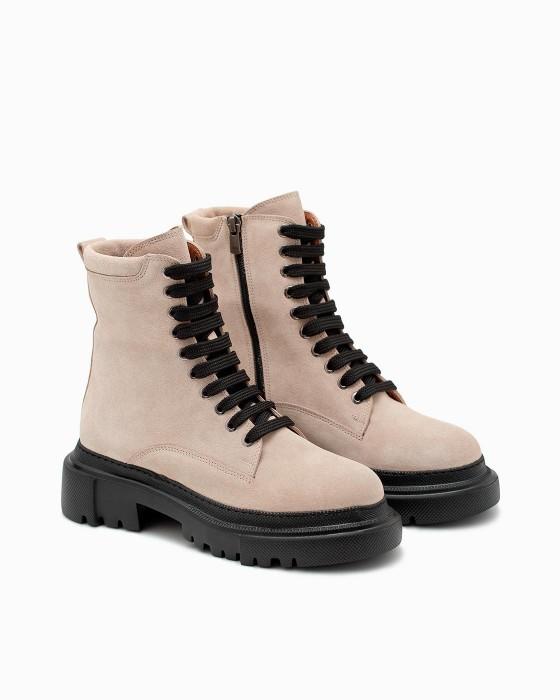 Замшевые демисезонные ботинки ROU с черной EVA подошвой