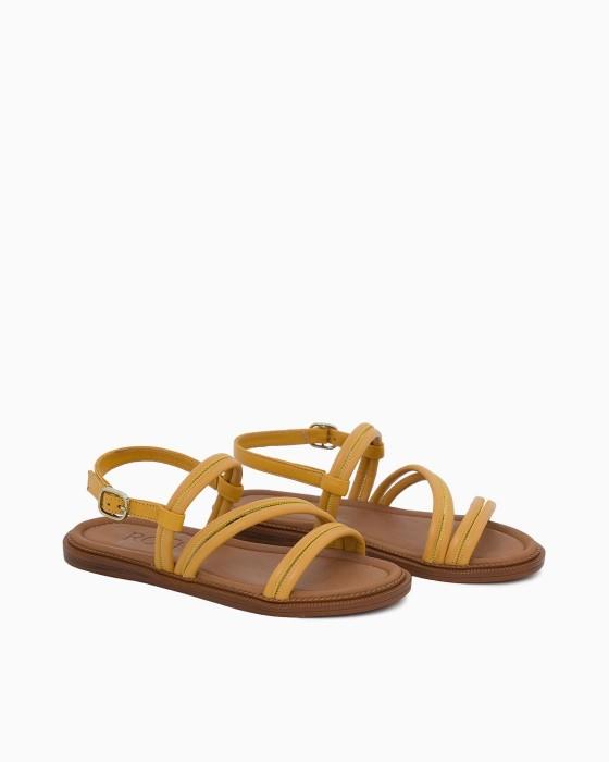 Желтые кожаные сандалии ROU