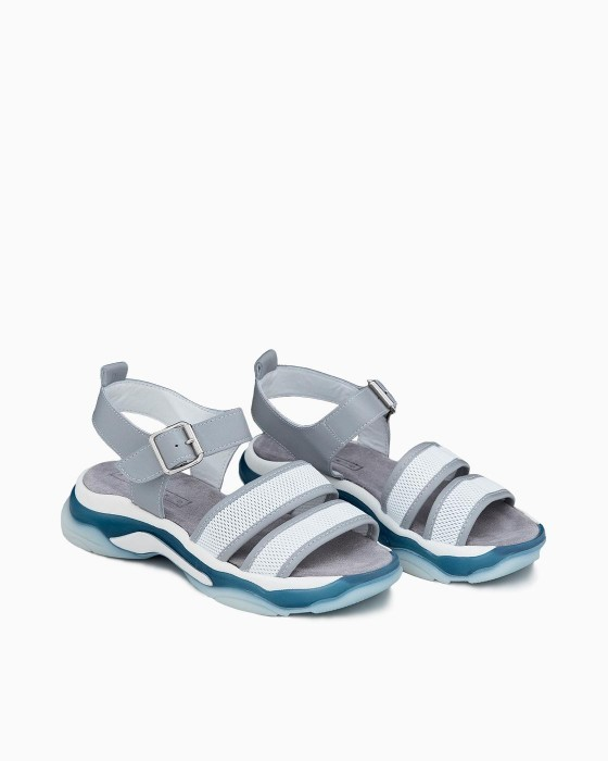 Серо-голубые сандалии Alpino на спортивной подошве