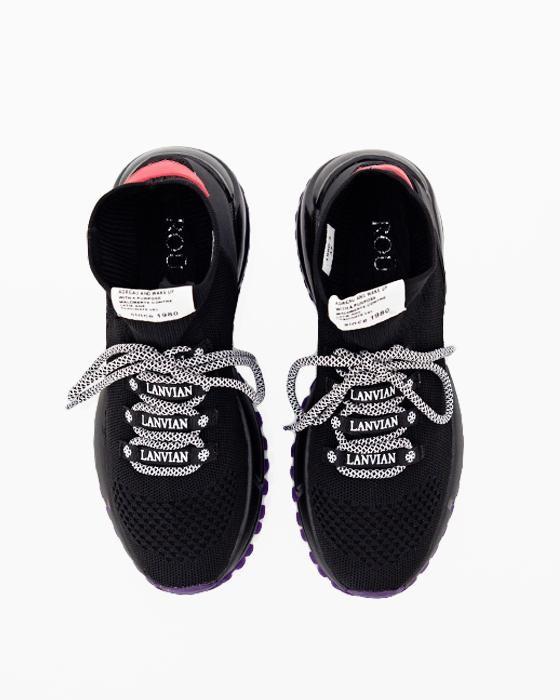 Черные текстильные кроссовки ROU