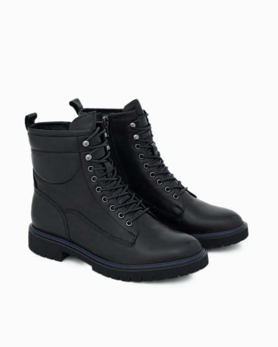 Высокие ботинки ROU из гладкой кожи на шнуровке