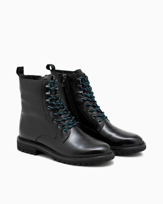 Зимние ботинки ROU с яркой шнуровкой