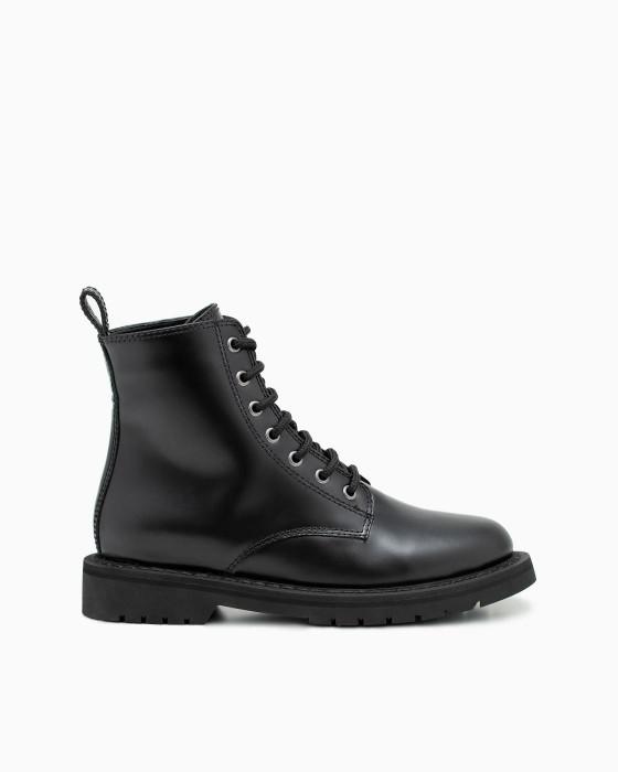 Демисезонные ботинки ROU из лощеной кожи