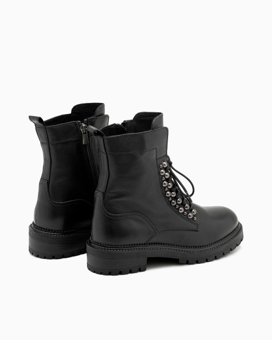 Зимние ботинки ROU с металлическими шариками на шнуровке