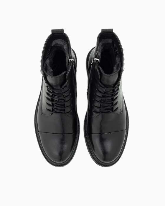 Зимние ботинки ROU со шнуровкой и декором